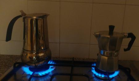 Gasherd Espressokocher