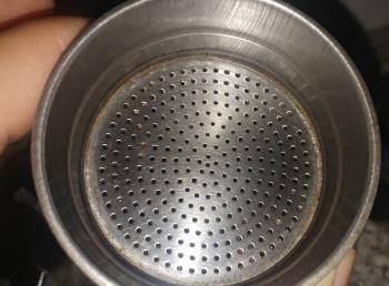 Sieb des Espressokochers